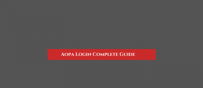 Aopa Login Complete Guide