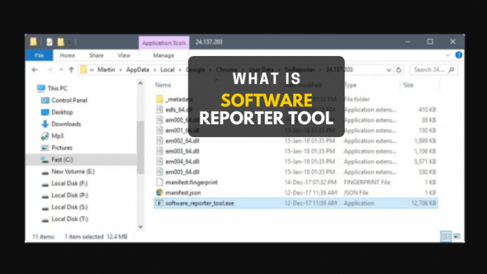 what is software reporter tool